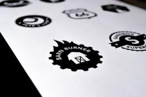 Badge and sticker design