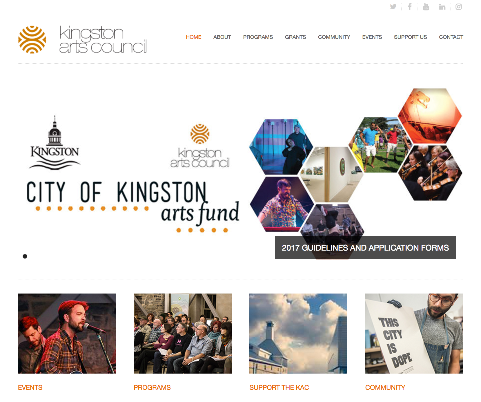 Kingston Arts Council Website Redesign