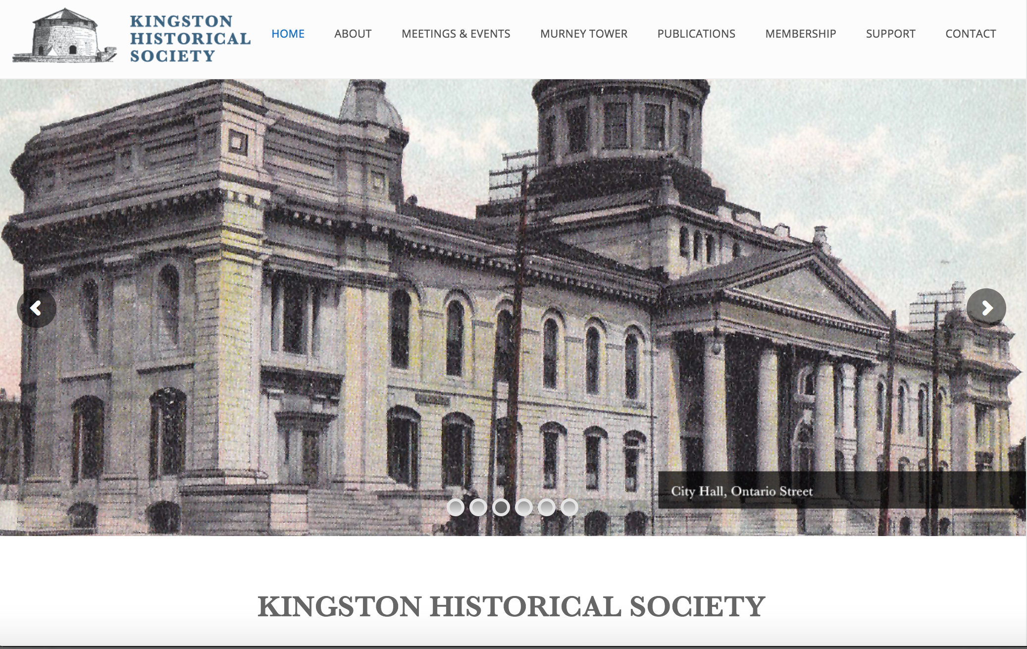 Kingston Historical Society Logo Design and Website Design