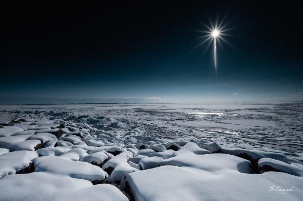 Sun Over A Frozen Lake Ontario
